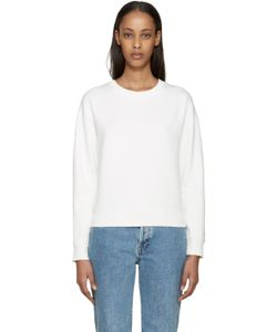 Earnest Sewn | White Abby Sweatshirt