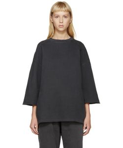 YEEZY SEASON 1 | Grey Cropped-Sleeve Pullover