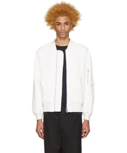 Etudes Studio | White Horizon Bomber Jacket