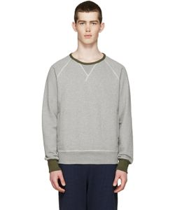 Nigel Cabourn | Grey And Green Crewneck Pullover