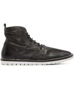 Marsèll Gomma | Black Leather Sancrispa Ankle Boots