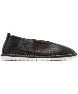 Marsèll Gomma | Black Perforated Leather Sanlaccio Flats