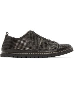 Marsèll Gomma | Black Leather Woven Sneakers
