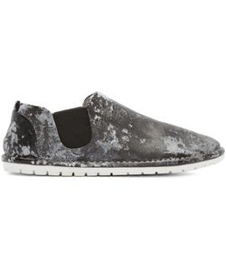 Marsèll Gomma | Black And White Leather Espadrilles