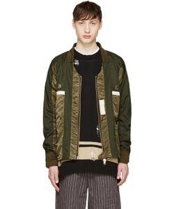 Blackmeans | Green Nylon Kimono Jacket