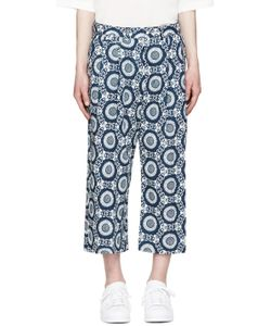 Sasquatchfabrix | Blue And White Oriental Cropped Pants