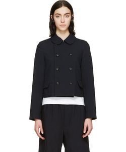 Comme Des Garçons Girl | Navy Double Breasted Jacket