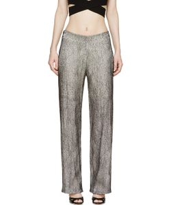 Iris Van Herpen   Black And White Cymatic Lace Trousers