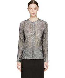 Iris Van Herpen | Black And White Cymatic Lace Blouse