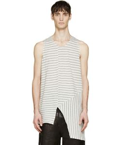SIKI IM | Beige And Grey Bionic Jersey Tank Top