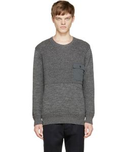 Nanamica | Grey Wool Knit Fishermans Sweater