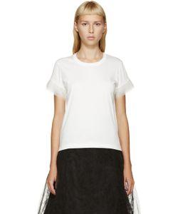 Noir Kei Ninomiya   White Tulle-Trimmed T-Shirt