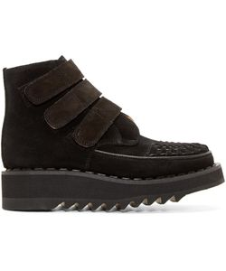 99 IS   99 Is Suede Velcro Creeper Boots