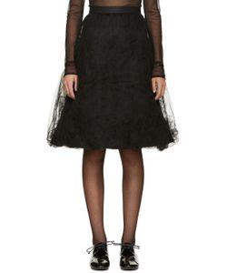 Noir Kei Ninomiya | Black Tulle Ruffle Skirt
