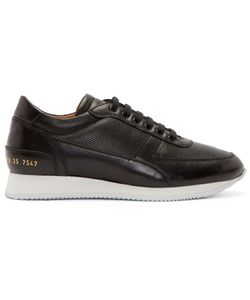 Woman By Common Projects | Black Leather Track Shoes