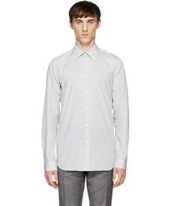 PAUL SMITH LONDON | White And Navy Geometric Shirt