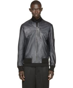 A.Sauvage | Leather Bomber Jacket