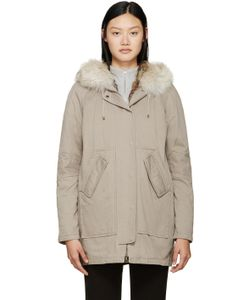 Army by Yves Salomon | Taupe Fur-Lined Parka