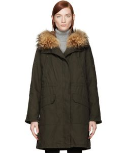 Army by Yves Salomon | Green Fur Lined Parka