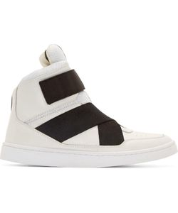 Johnlawrencesullivan | White Leather High-Top Sneakers