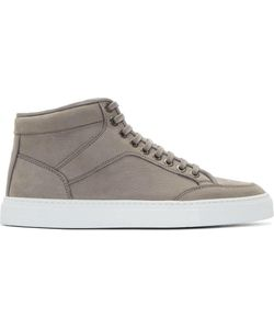 ETQ AMSTERDAM | Grey Nubuck Mid-Top Sneakers