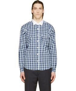 Nanamica | Bule Plaid Wind Cleric Shirt