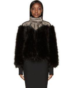 Iris Van Herpen | Black Fur Biopiracy Coat