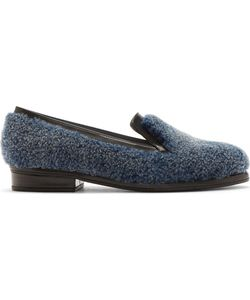 Amelie Pichard | Amélie Pichard Blue Shearling And Leather Andy Loafer