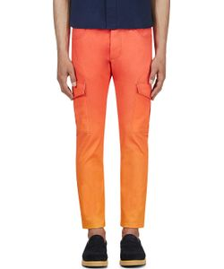 KATIE EARY | Orange Sunset Twill Cargo Trousers