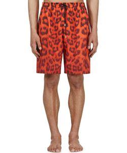 KATIE EARY | Vermilion Leopard Swim Shorts