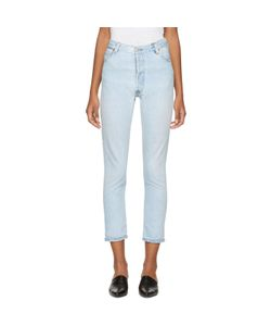 RE-DONE | Levis Edition No Destruction High-Rise Ankle Crop Jeans