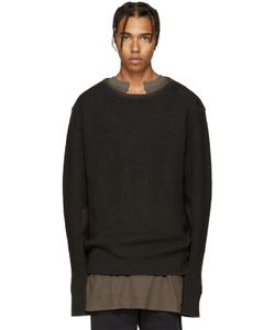 YEEZY SEASON 1 | Grey Wool Undestroyed Sweater