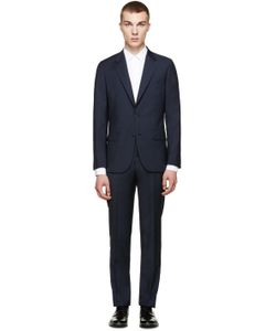 PAUL SMITH LONDON | Navy Glen Plaid Mayfair Suit
