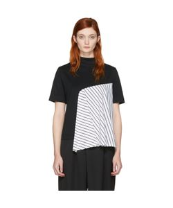 FACETASM   Exclusive Striped Panel T-Shirt
