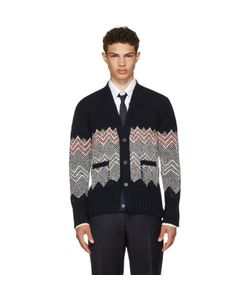 Thom Browne | Fair Isle Classic V-Neck Cardigan
