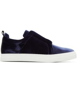 Pierre Hardy | Velvet Slider Slip-On Sneakers