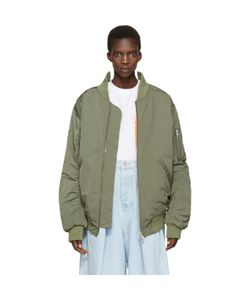 MARTINE ROSE | Oversized Collapsed Bomber Jacket