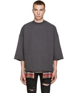 FEAR OF GOD | Grey Mock Neck Pullover
