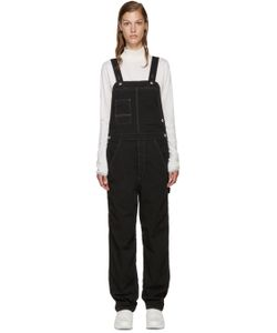 AND WANDER | Black Outlastreg Cotton Overalls