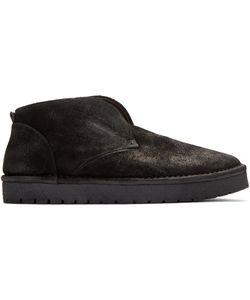 Marsèll Gomma | Black Nubuck Caprona Rov Boots