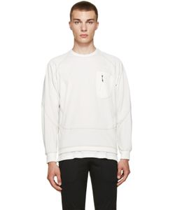 AND WANDER | Off-White Zip Pocket Pullover