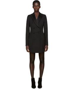 PALLAS | Black Grain De Poudre Angel Dress