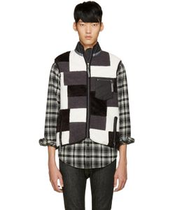 ganryu | Tricolor Fleece Patchwork Vest