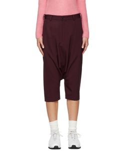 Comme Des Garçons Girl | Burgundy Cropped Sarouel Trousers