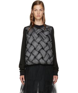 Noir Kei Ninomiya | Black Padded 3d Pullover