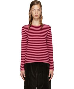 Comme Des Garçons Girl | Pink And Burgundy Wool Sweater