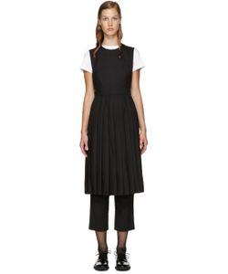 Noir Kei Ninomiya | Black Wool Half Blouse