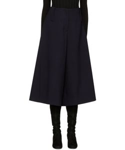 Cyclas | Navy Wool Panelled Culottes