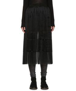 Sara Lanzi | Black Pleated Silk Skirt