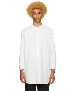 Undecorated Man | Poplin Draped Shirt